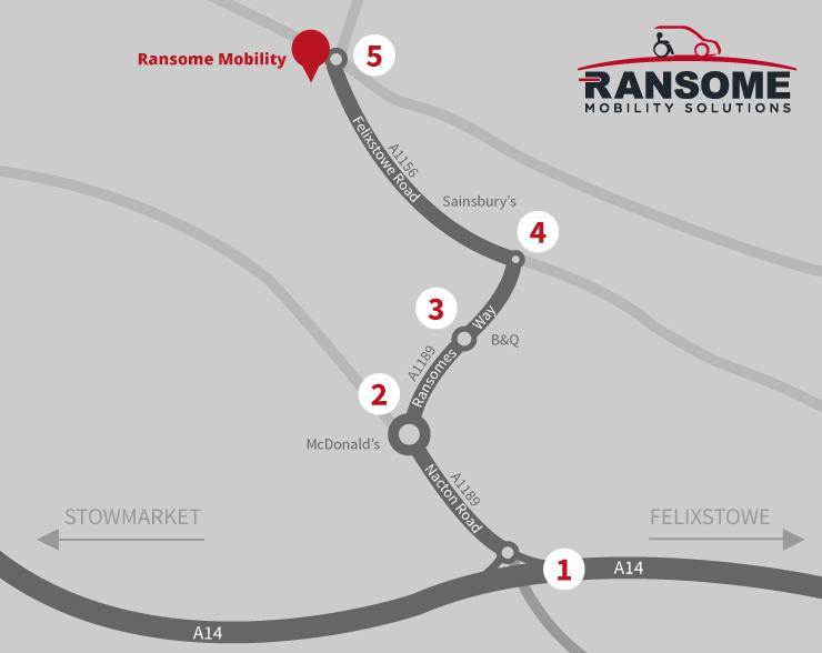 How to find Ransome Mobility Solutions - Map